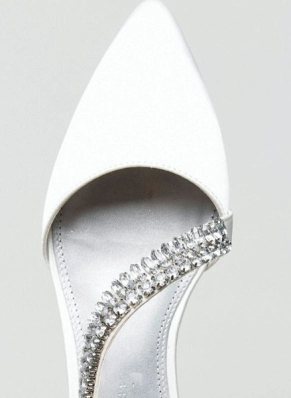 White Diamante Wedding Shoes